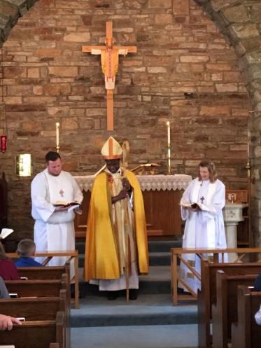 A visit from Bishop Eugene Sutton