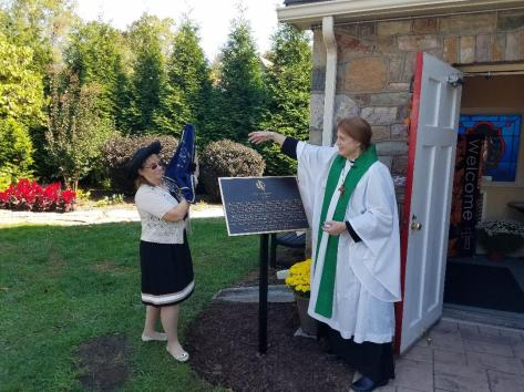 Dedication of the DAR Plaque 2
